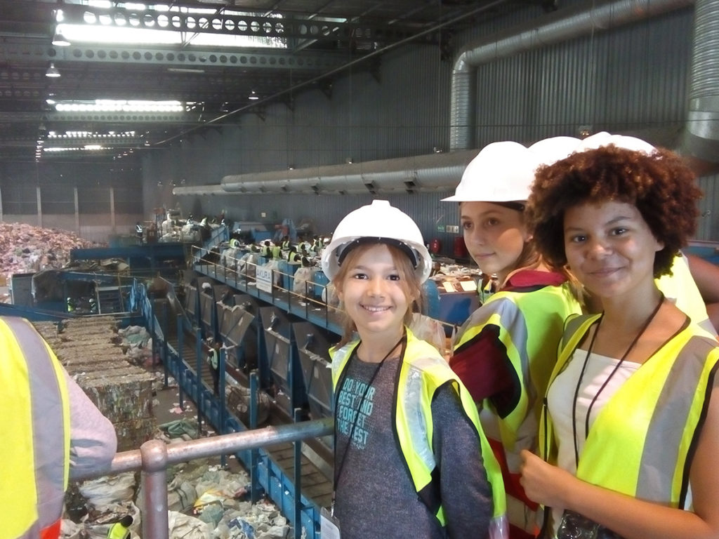 Trip to the recycling plant