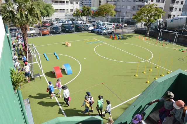 The football field at the Sea Point campus