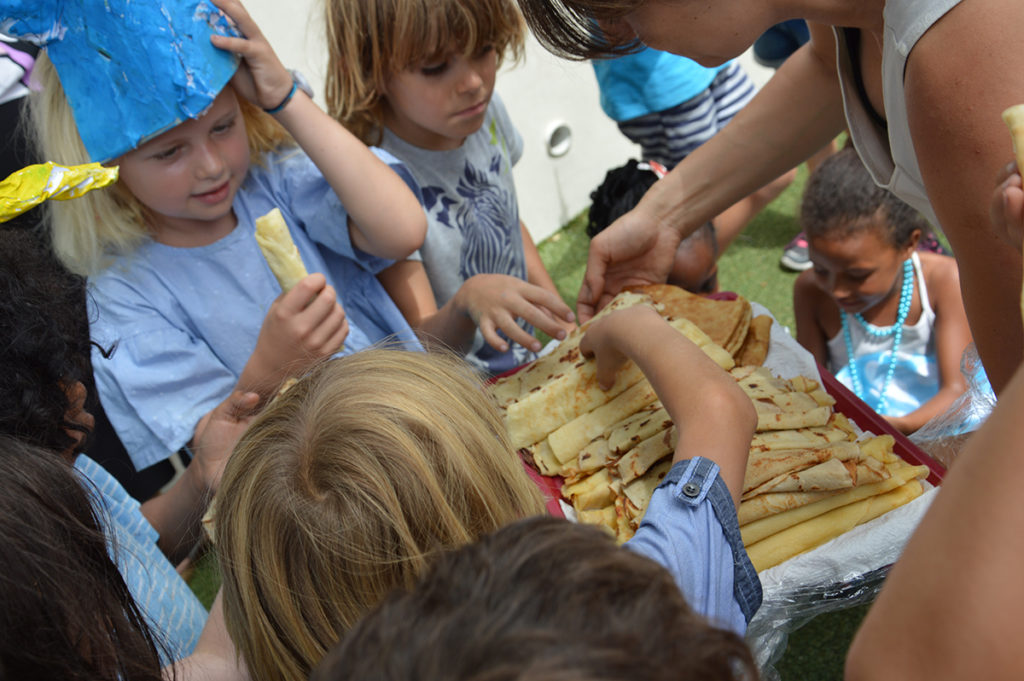 Pancakes at the school carnival
